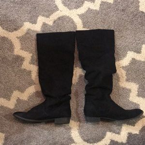 Forever 21 Black Knee High Boots